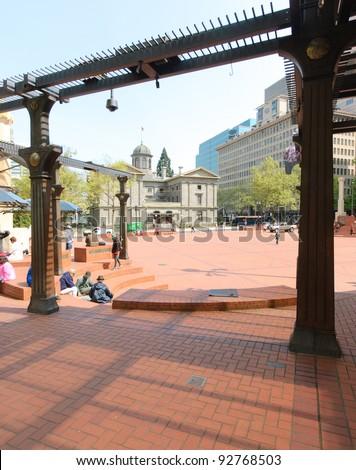 Pioneer Square - stock photo