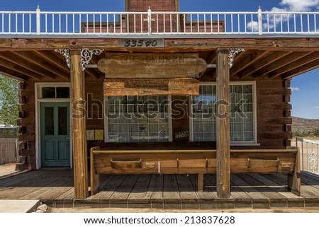 Pioneertown, California - Aug 10 2014: Pioneertown Church on Mane Street