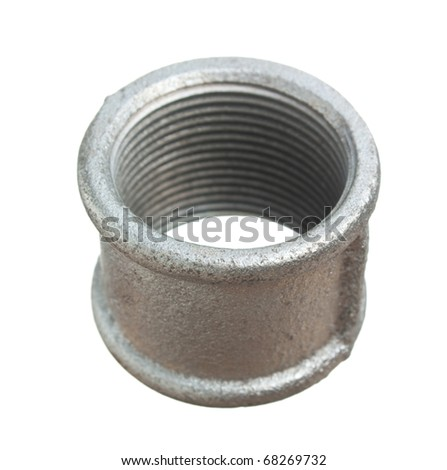 Pipe coupling isolated on a white  background