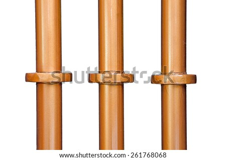 pipe line beer tank and white background. - stock photo