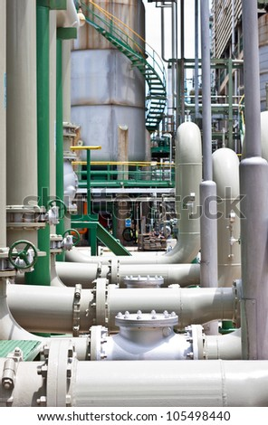 pipe line of cooling pump - stock photo