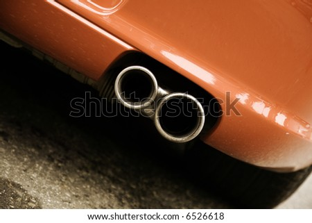 pipe of sport car