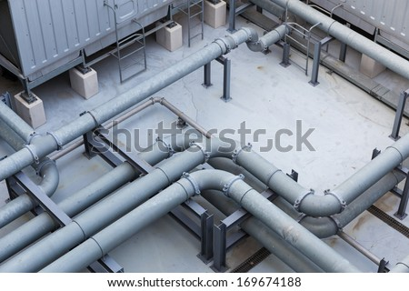 Pipe on the roof top - stock photo