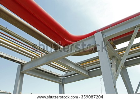 Pipeline of oil fields - stock photo