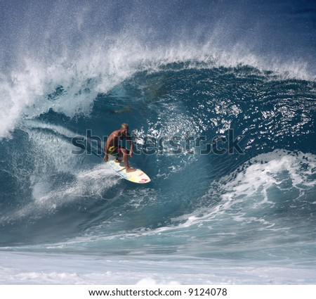 Pipeline surfer Fred Patacchia - stock photo