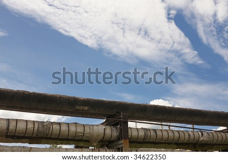 Pipeline under the sky
