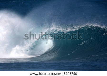 Pipeline wave - stock photo