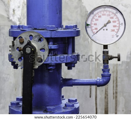 Pipes and valves of system the industry. - stock photo