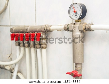 Pipes of heating of a boiler