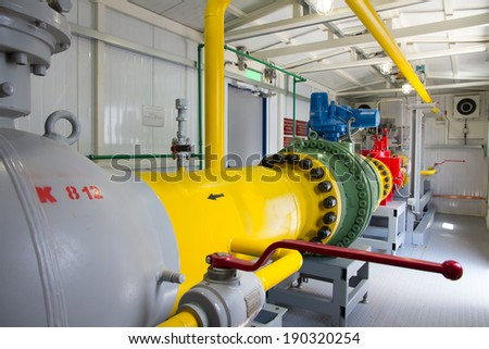 pipes of thermal power plant