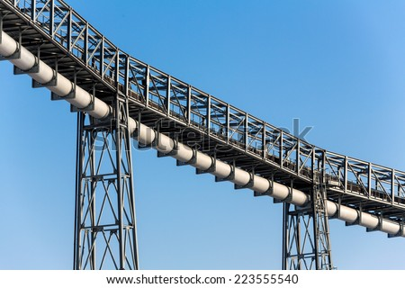 piping for industrial purposes, symbol photo for transportation, industrial, security of supply - stock photo