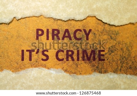 Piracy crime - stock photo