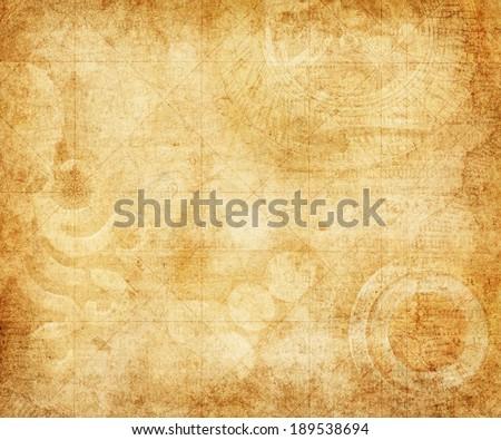 Pirate and nautical theme grunge background - stock photo