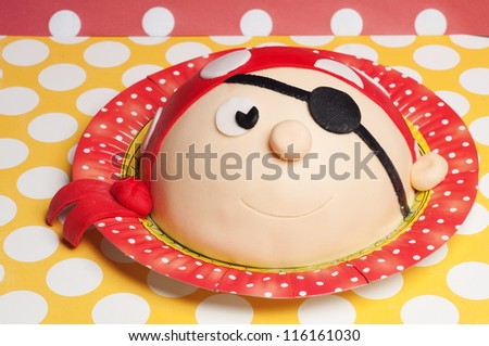 pirate cake - stock photo