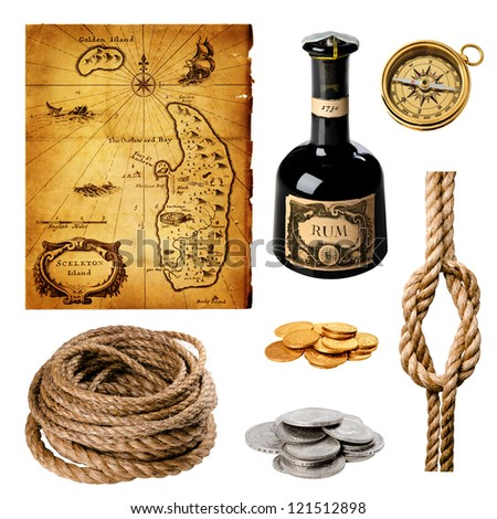 pirate collection - stock photo