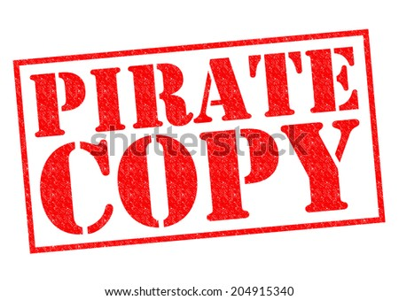 PIRATE COPY red Rubber Stamp over a white background.