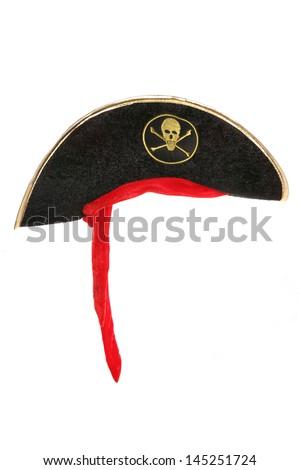 Pirate fancy dress hat studio cutout - stock photo