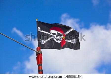 Pirate flag - stock photo
