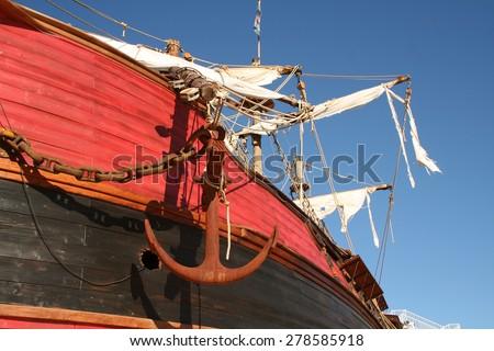 Pirate Ship / Anchor - stock photo