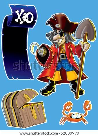 Pirate Stuff - stock photo