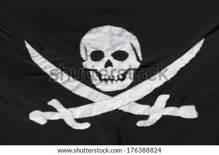 Pirates flag - stock photo