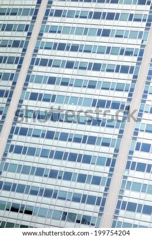 Pirelli building closeup in Milan, Italy
