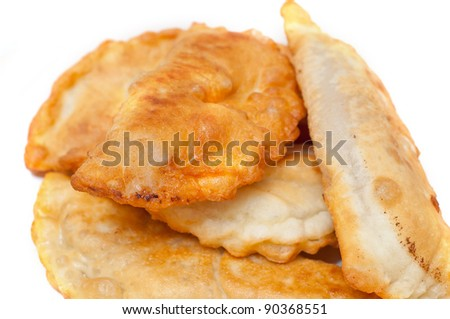 Pirojki. traditional Russian patty with potato.