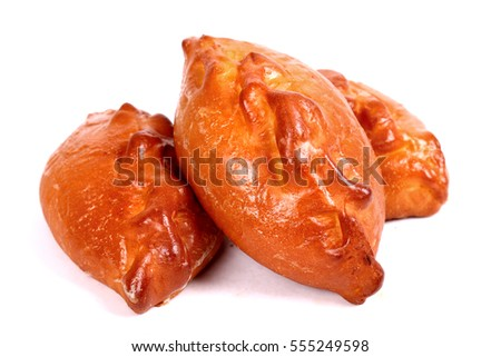 Pirozhki isolated over white background