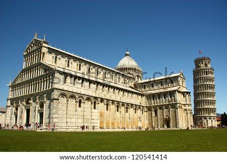 Pisa Basilica , Field of Miracle in Pisa - stock photo