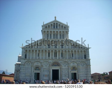 Pisa cathedral view