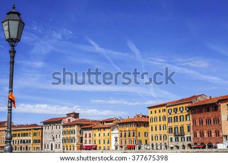 pisa city street - stock photo