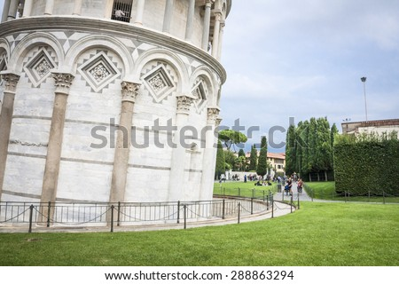 Pisa Leaning Tower, Italy - stock photo
