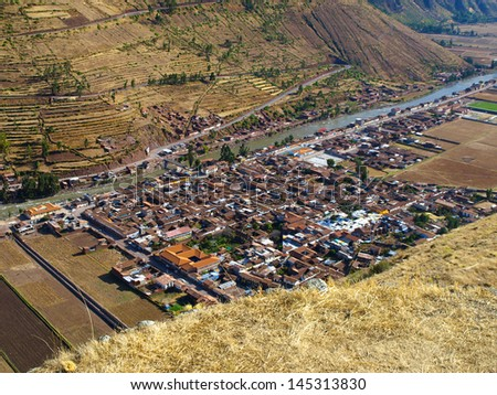 Pisac village near Cusco (Peru) - stock photo