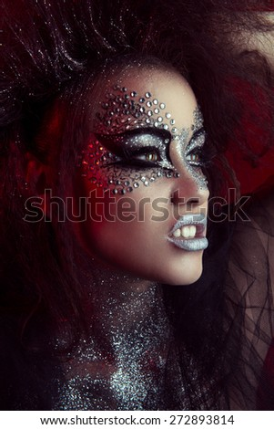 Pisces Beauty Fashion Glamour Girl Portrait