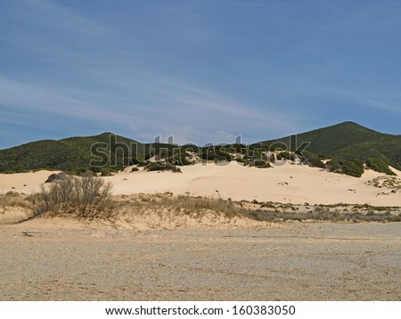 Piscinas, dune landscape at the Costa Verde, Southwest Sardinia, Italy, Europe