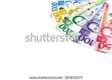 Piso currency of Philippine.