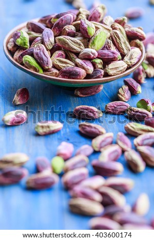 Pistachio nuts from Bronte, Sicily - stock photo
