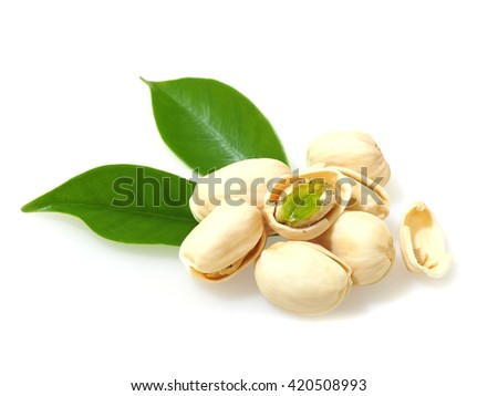 pistachioes  isolated on white background