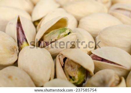 pistachios close up - stock photo