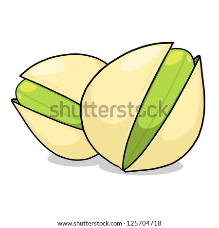 Pistachios Illustration; Tree Nuts Drawing; Isolated pistachios drawing - stock photo