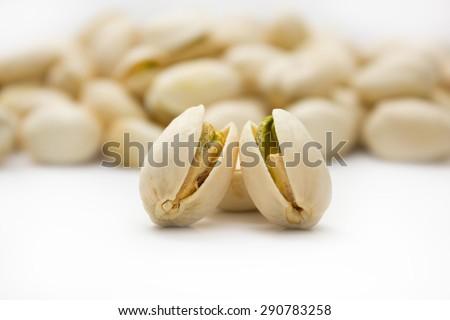 pistachios nuts - stock photo