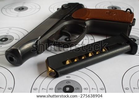 Pistol. - stock photo