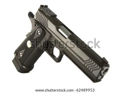 Pistol, isolated, NOTM. - stock photo