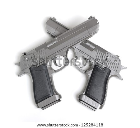 Pistol isolated on white background - stock photo