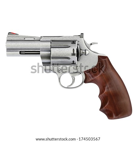 pistol isolated on white background.