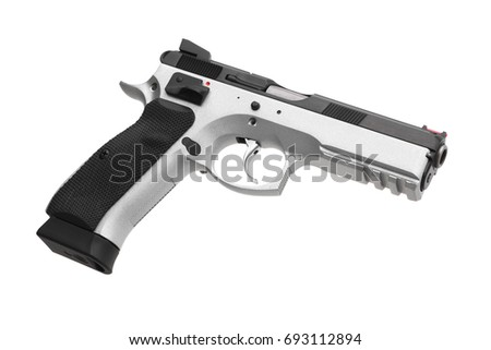 Pistol isolated on white background