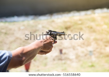pistol revolver shooting range training