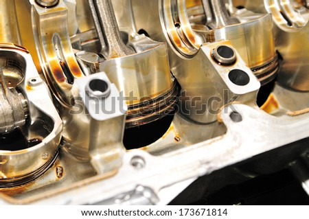 Piston up side down. - stock photo