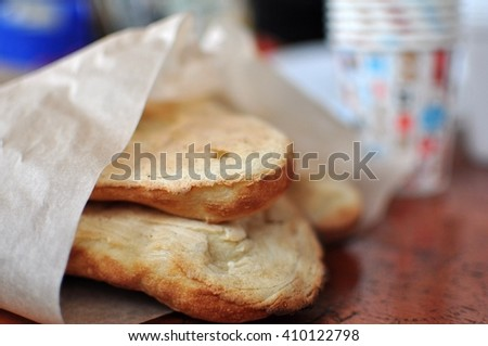 pita bread - stock photo