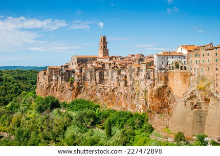 Pitigliano Tuscany Italy - stock photo